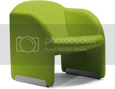 green funny chair